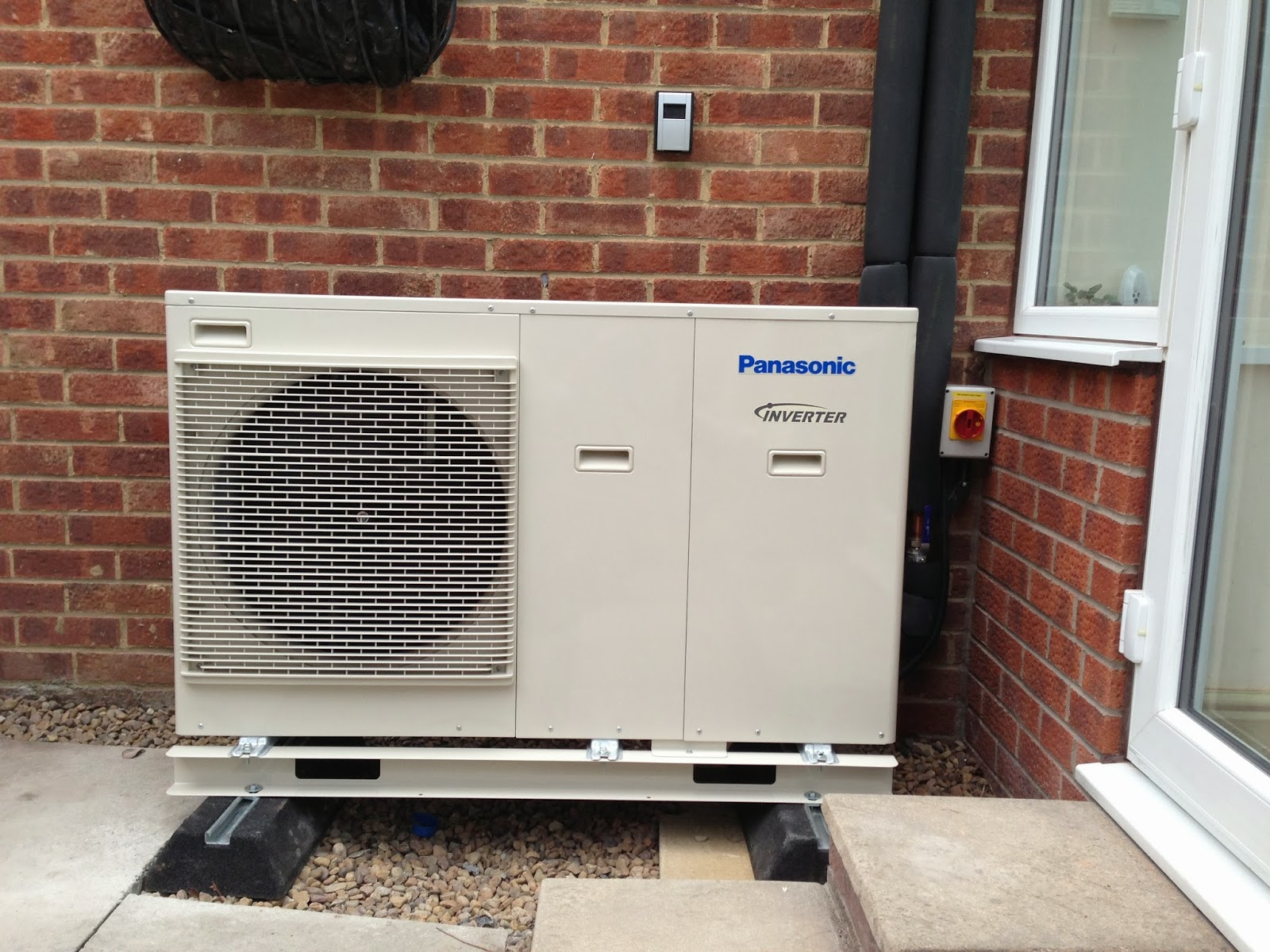 panasonic heat pump installed outside