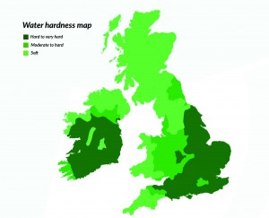 Water hardness in Ireland